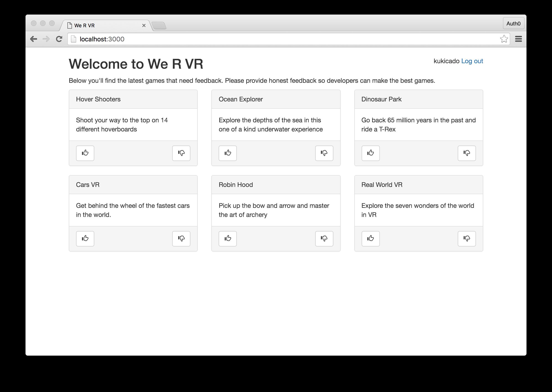 We R VR App