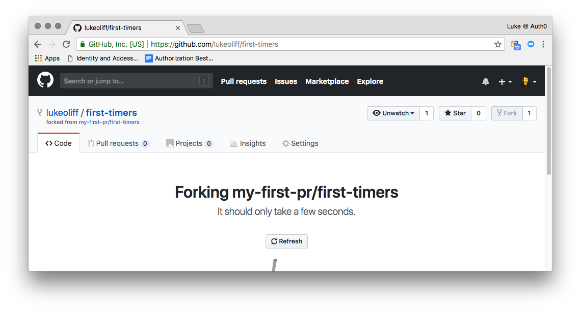 GitHub will generate a copy of the repository