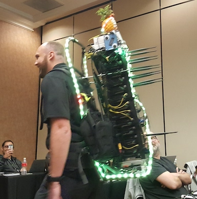 WiFi Pineapple Tower at Black Hat Conference