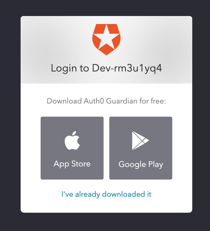 MFA Download App Screen