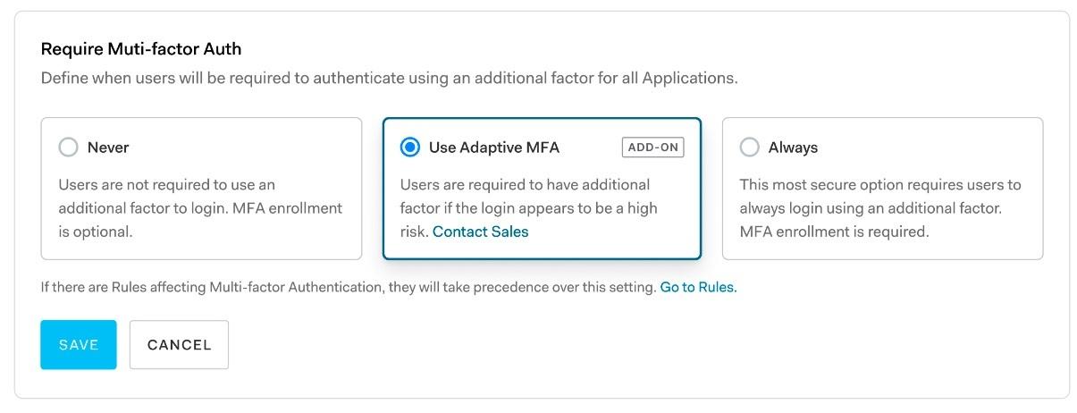 Use Adaptive MFA