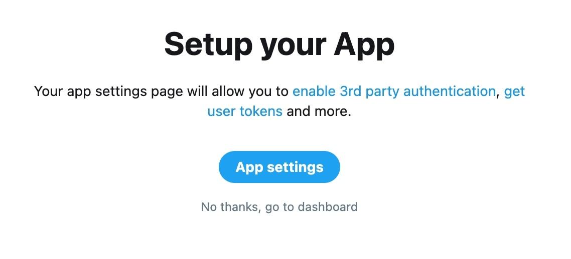Twitter Dashboard for App