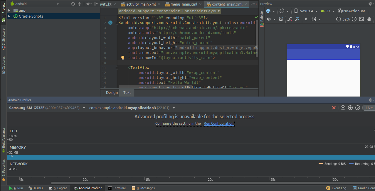 Android Studio provides us with the profiler to check the performance of our app.