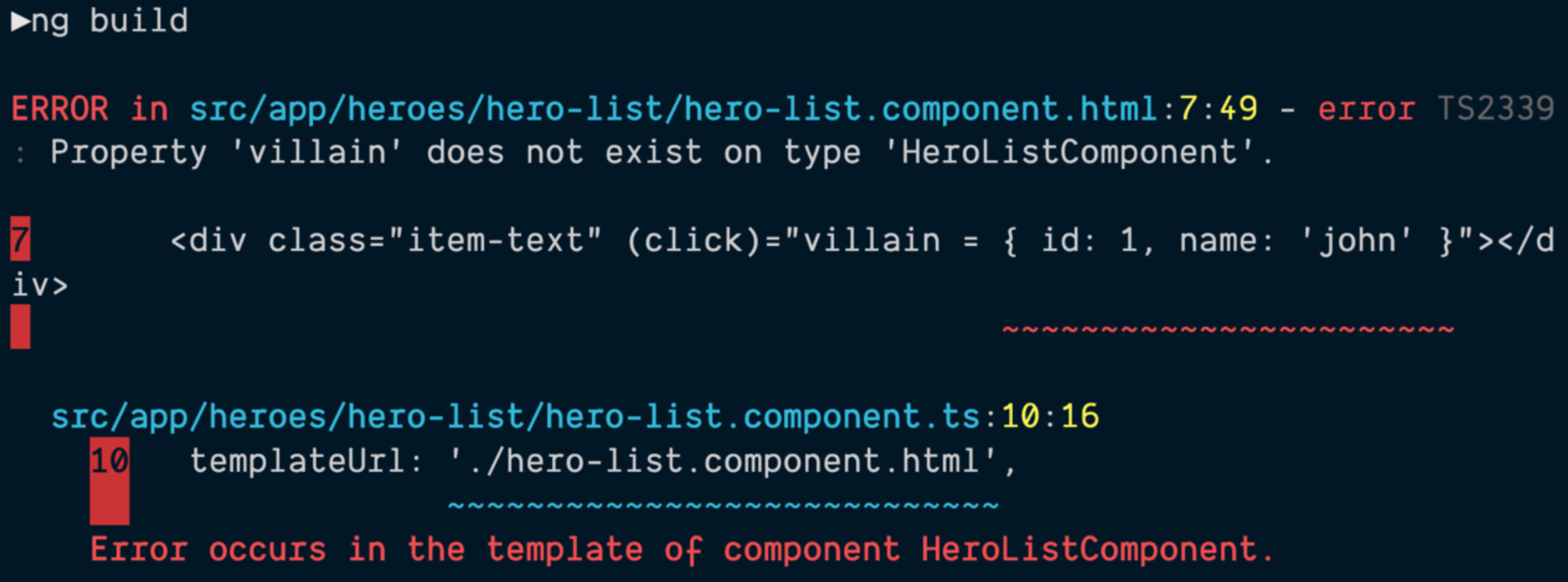 Error handling in Components