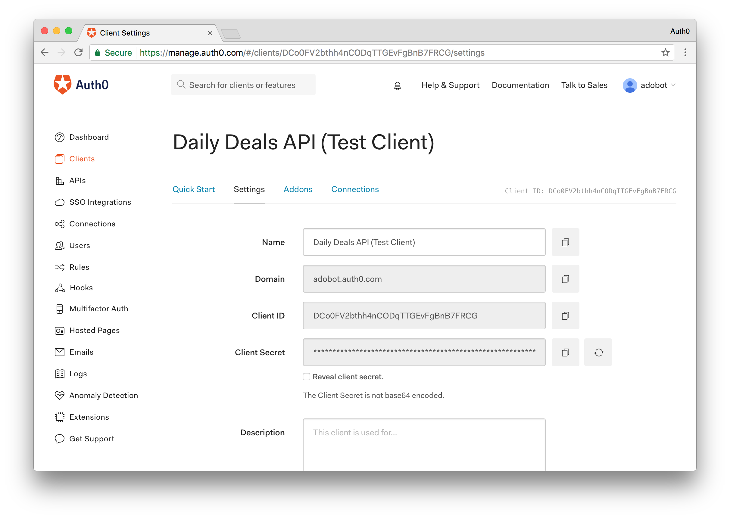 Daily Deals API Test Client