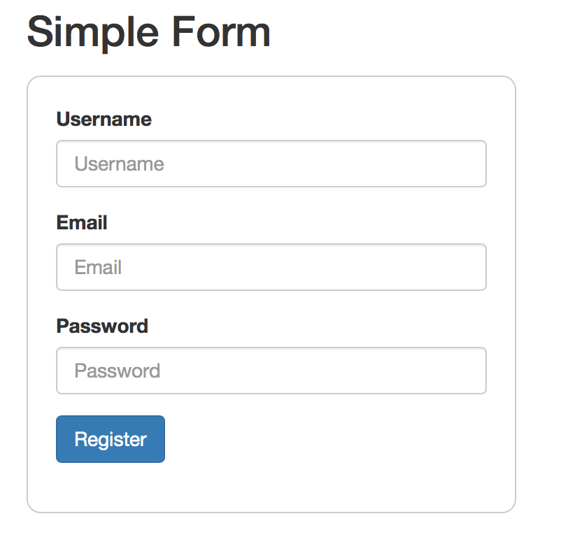 angular2 forms simple