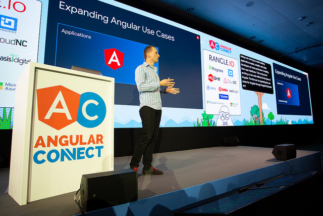 Igor Minar delivering the opening Keynote at AngularConnect