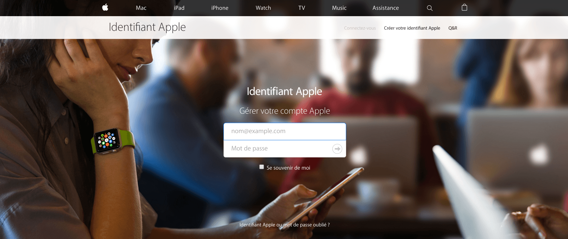 Fake French Apple Site