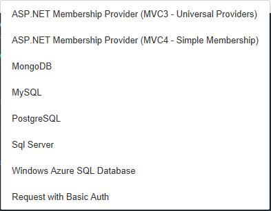 Auth0 custom providers list