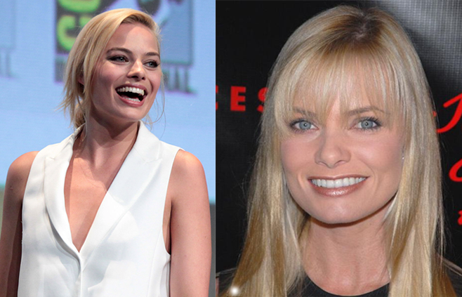 Are these images of actress Jaime Pressly or Margot Robbie?