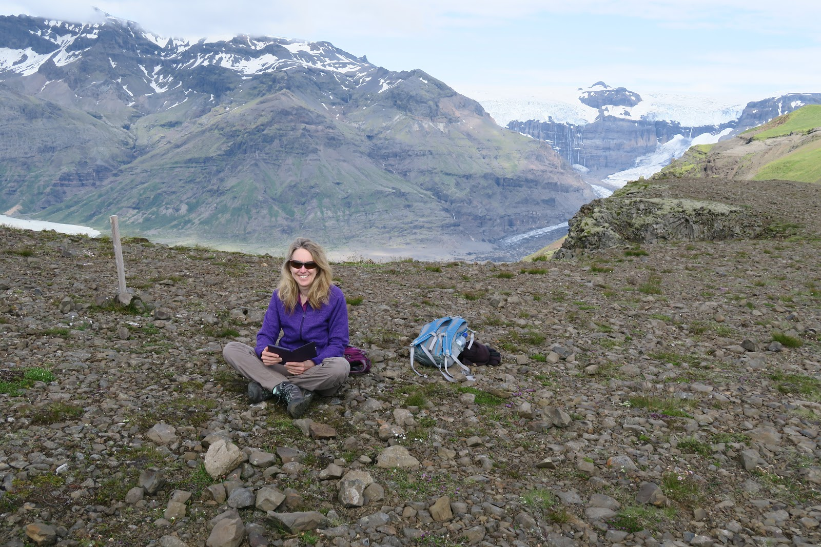 Director of Strategic Operations and Technical Enablement Yvonne Wilson hiking