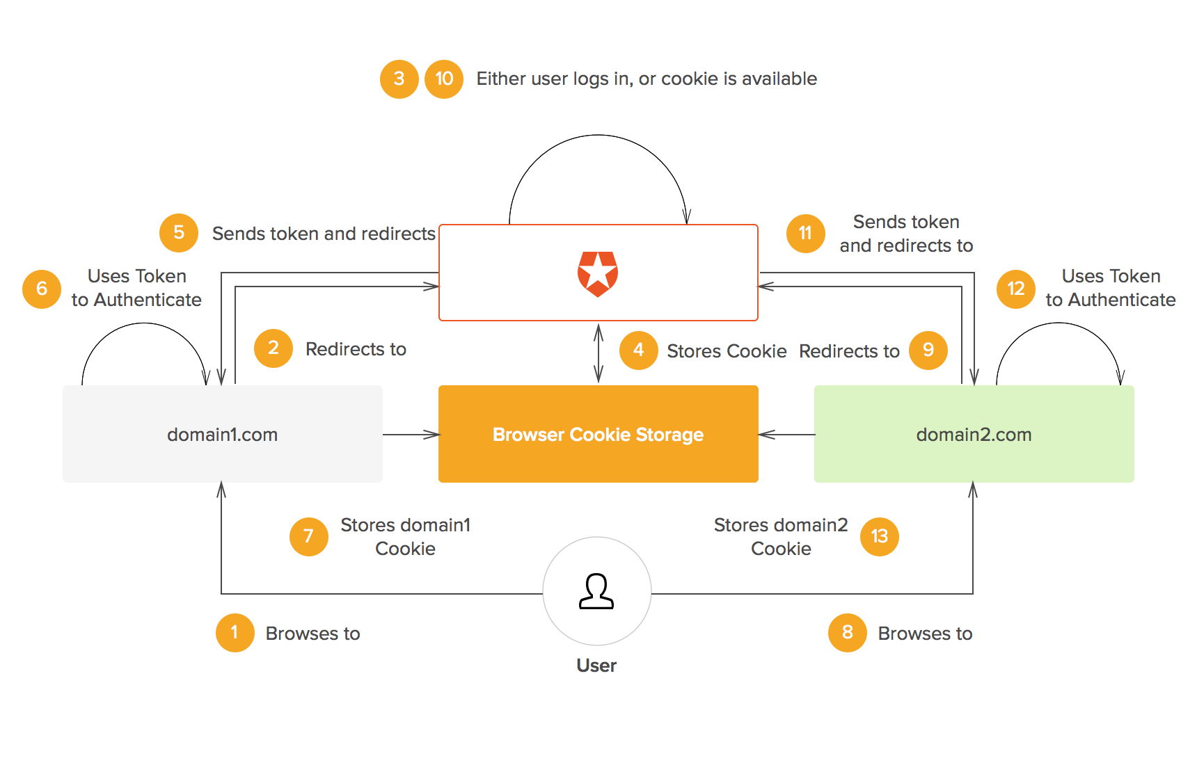 Using Auth0 as the central authentication domain
