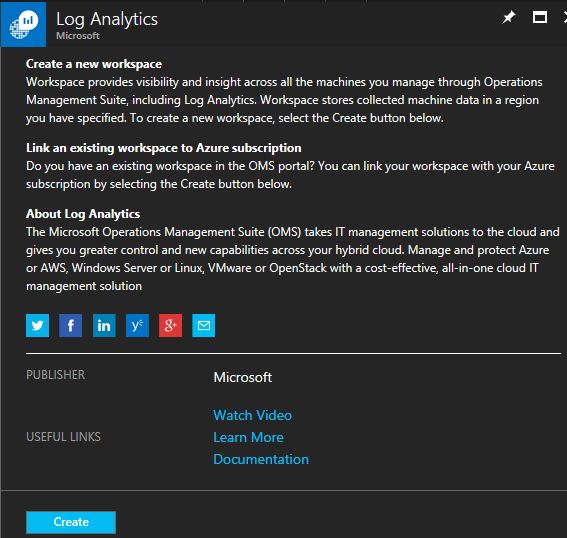 Azure portal experience