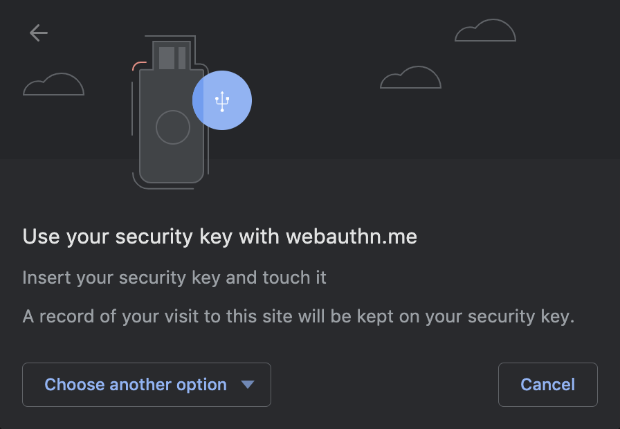 Touch your security key