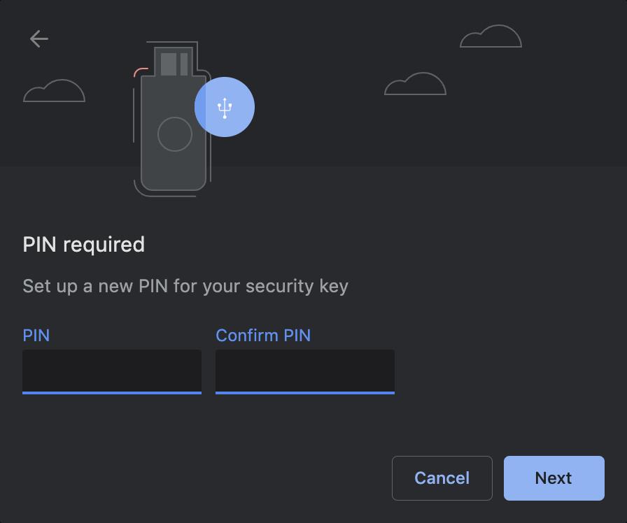 Configure a pin code