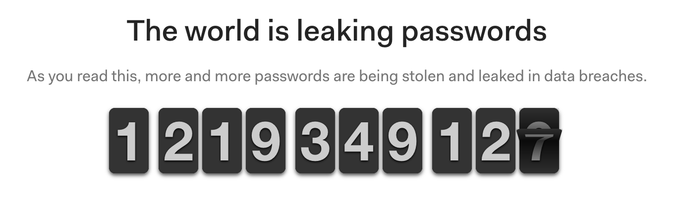 Breached Passwords Counter