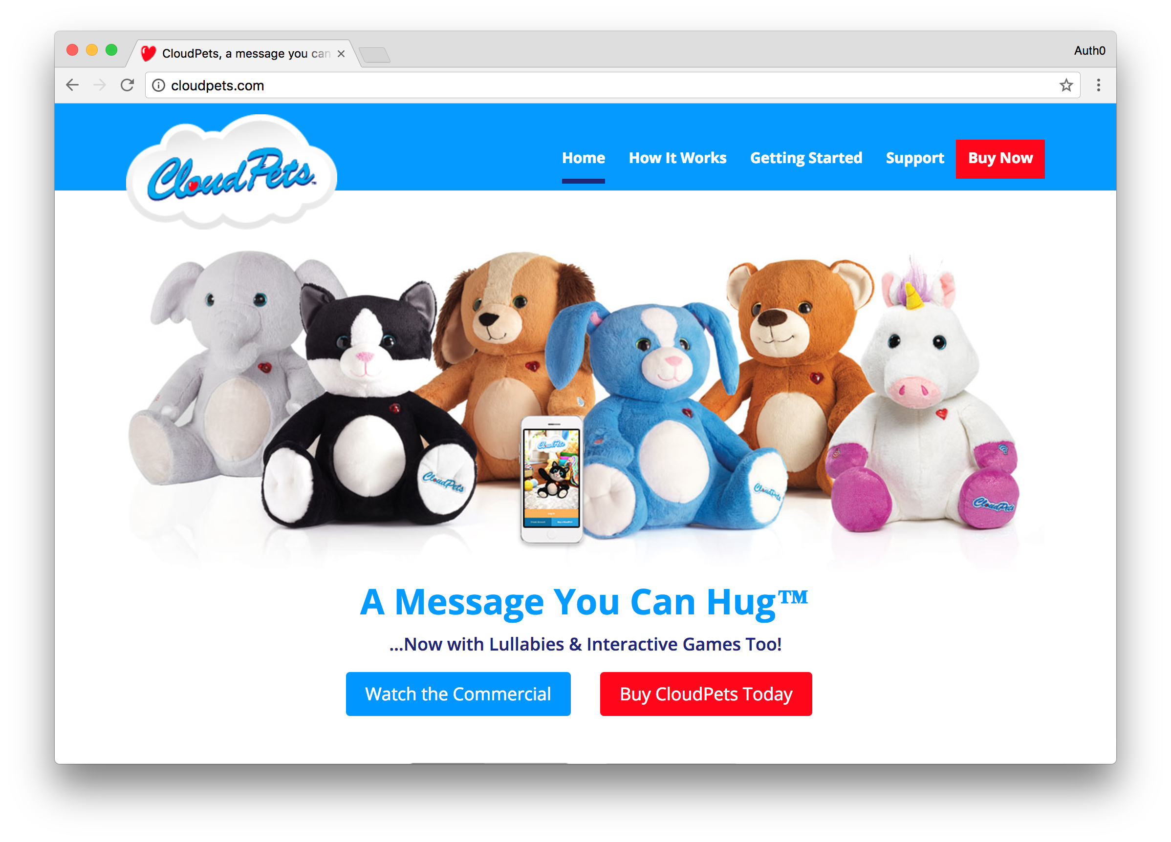 Cloudpets Homepage