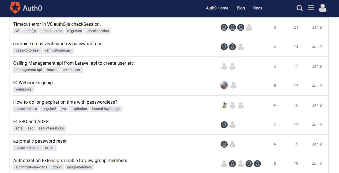 Auth0 Community has a new platform.