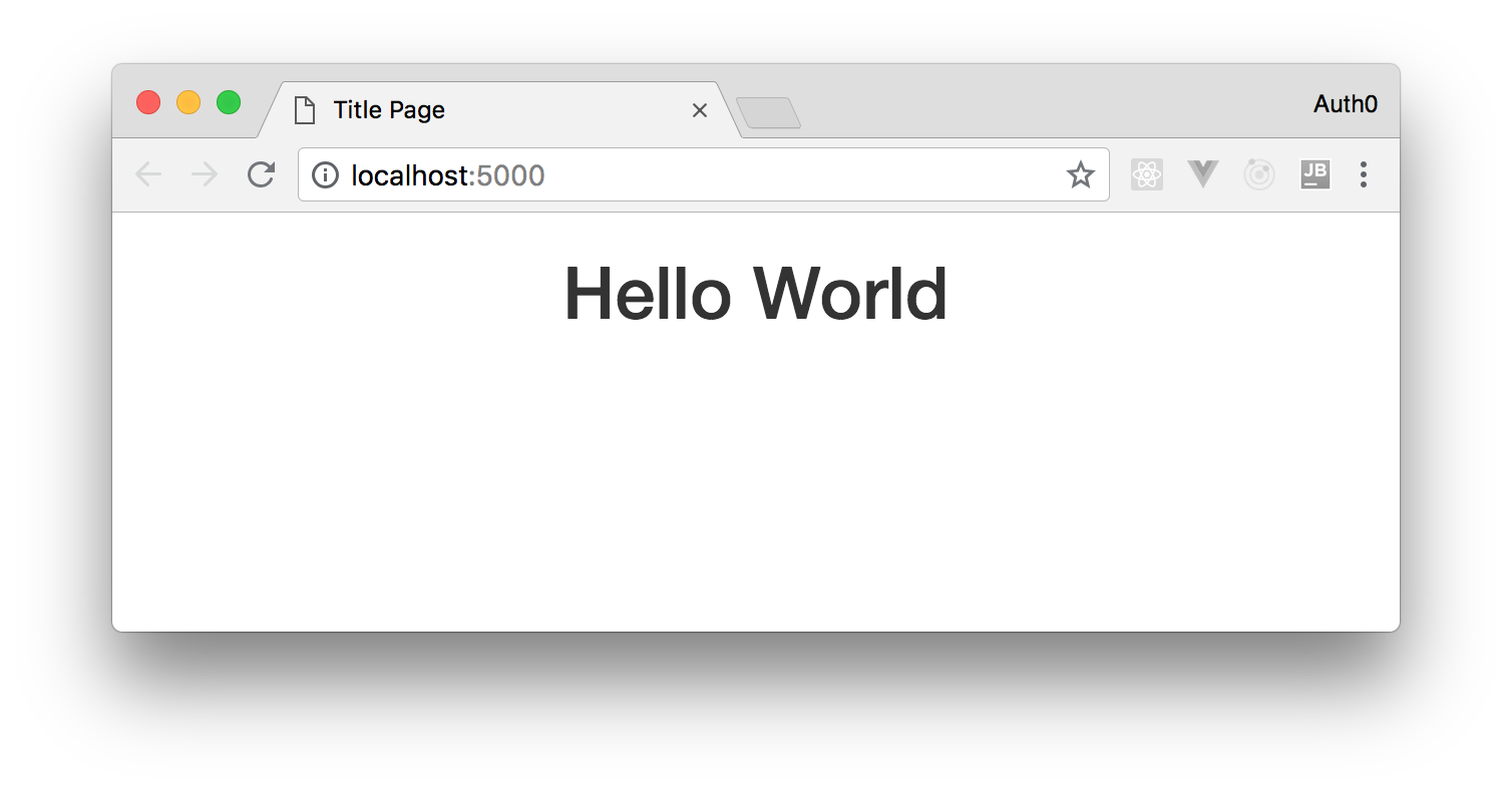 "Node.js web app localhost ""hello world"" starting page"
