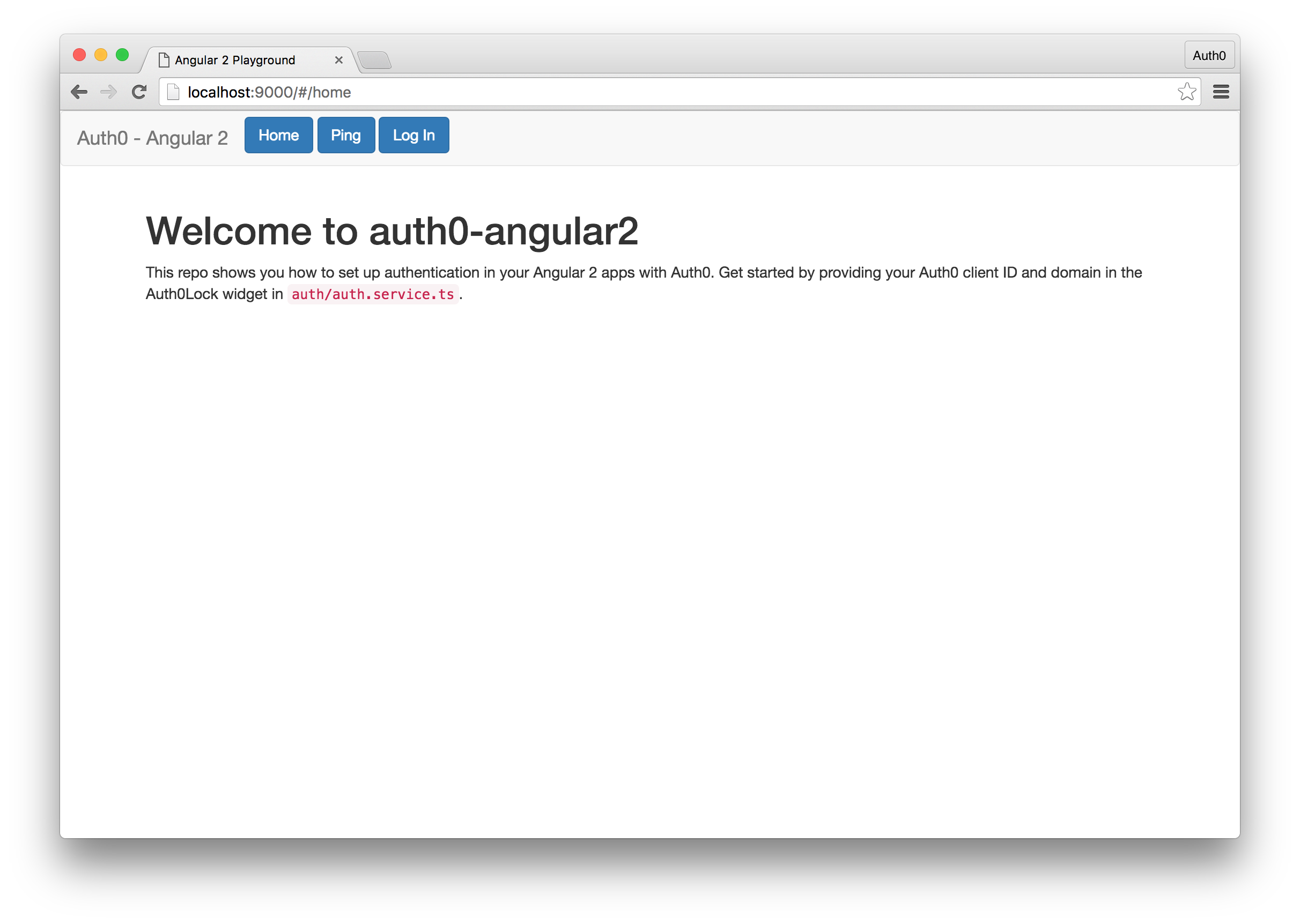 Angular 2 App with JWT Auth
