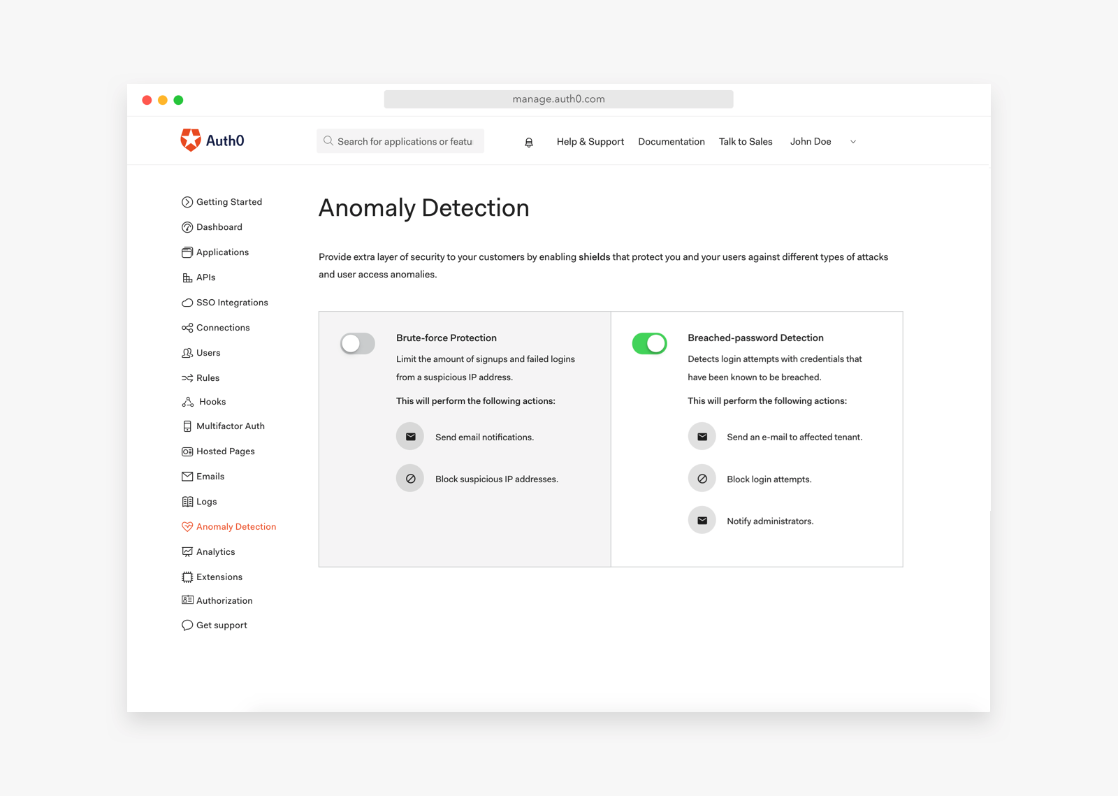 Auth0 Anomaly Detection
