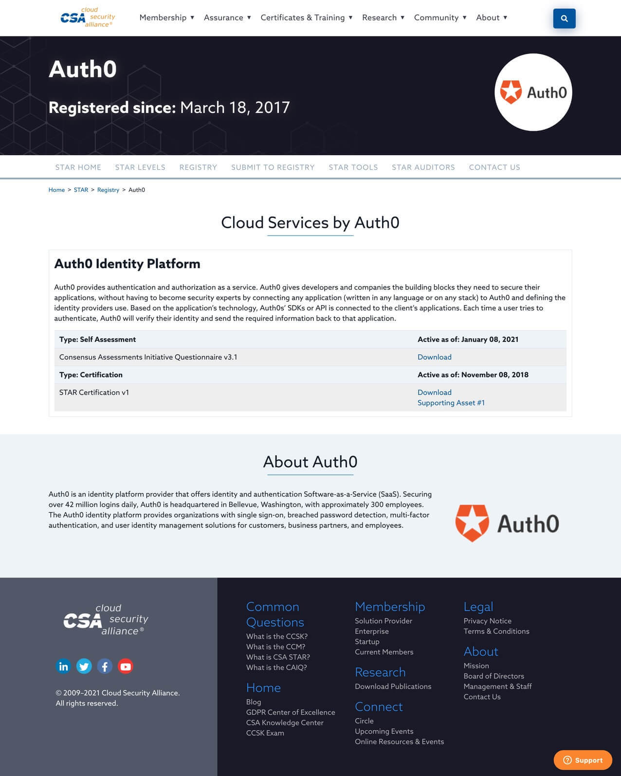 Cloud Services by Auth0