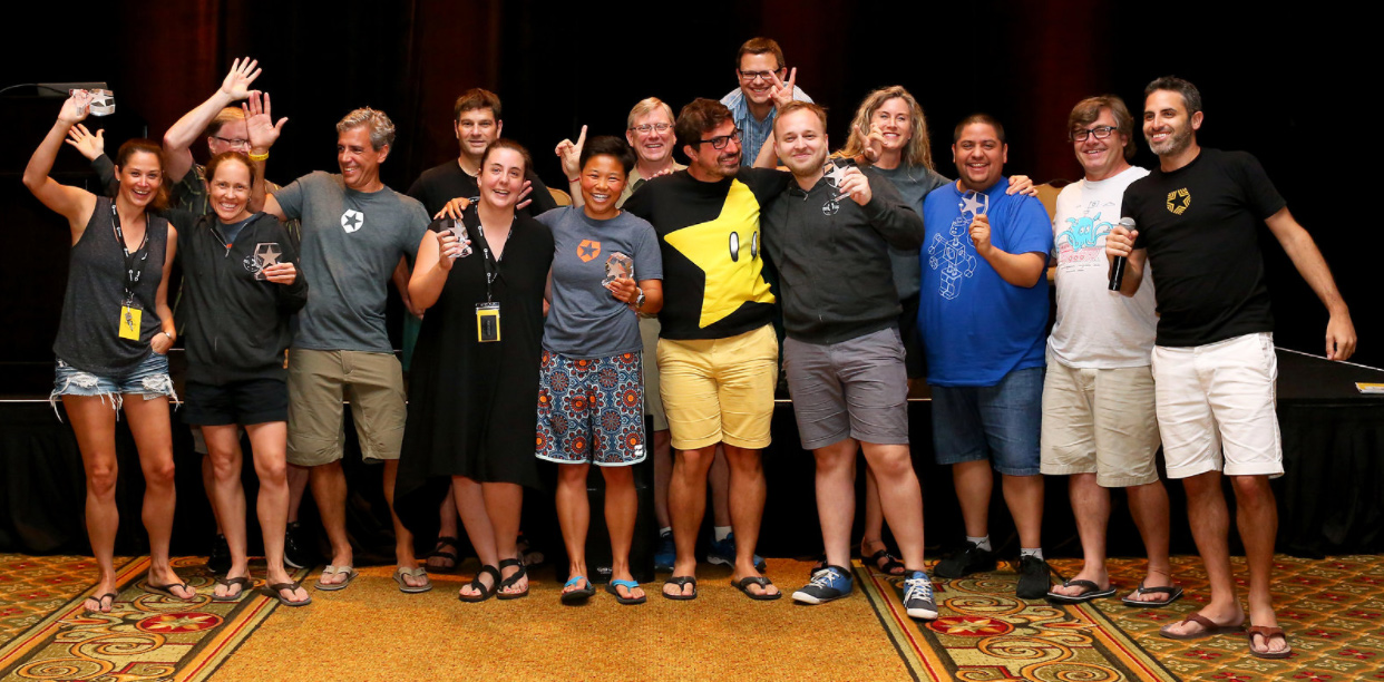 Auth0 2017 company offsite: company award winners with Senior Leadership Team