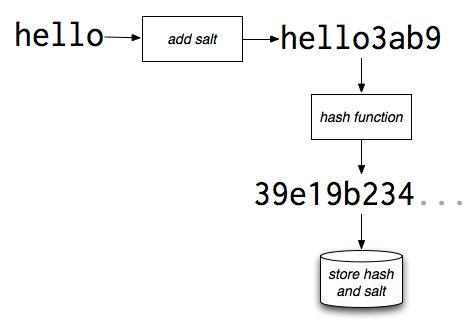 Password salting and hashing