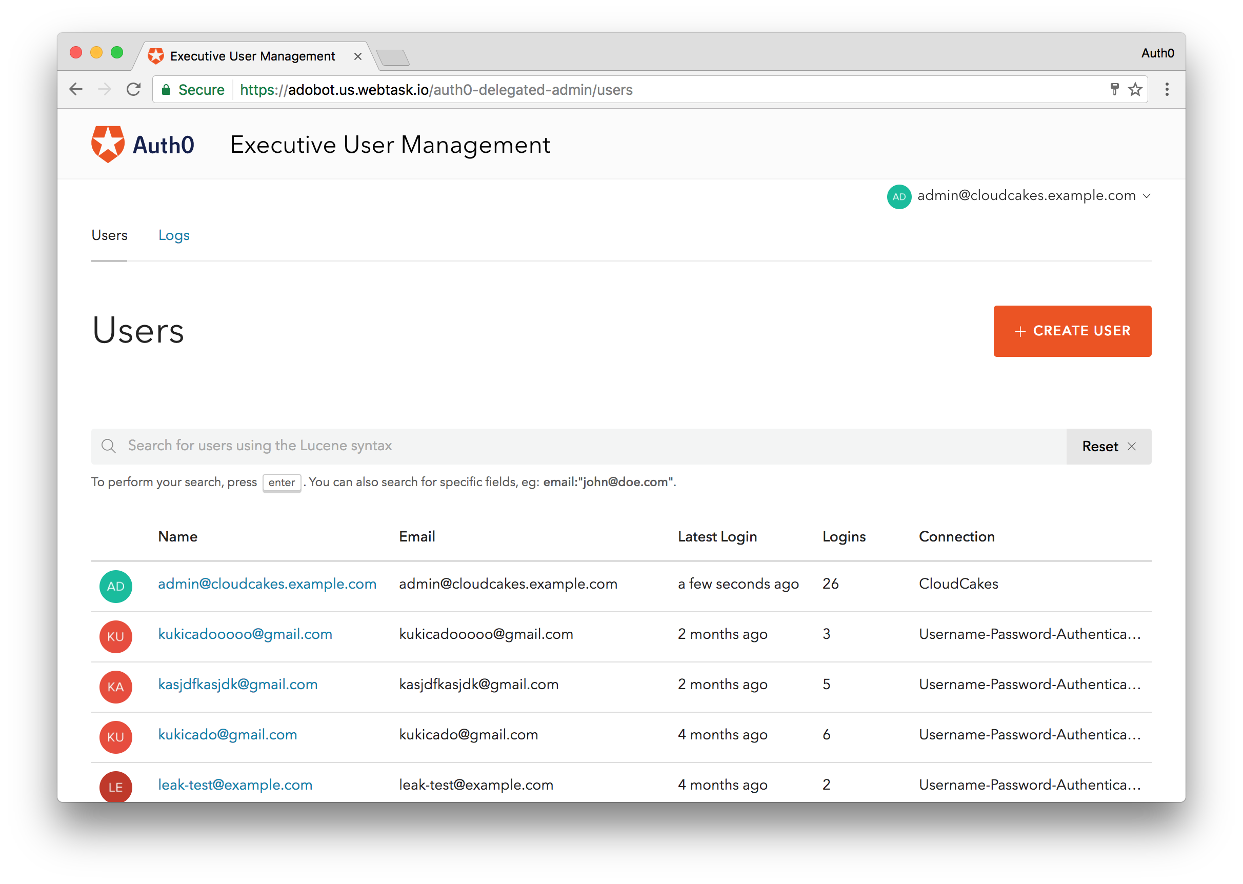 Delegated Admin Dashboard with Permissions