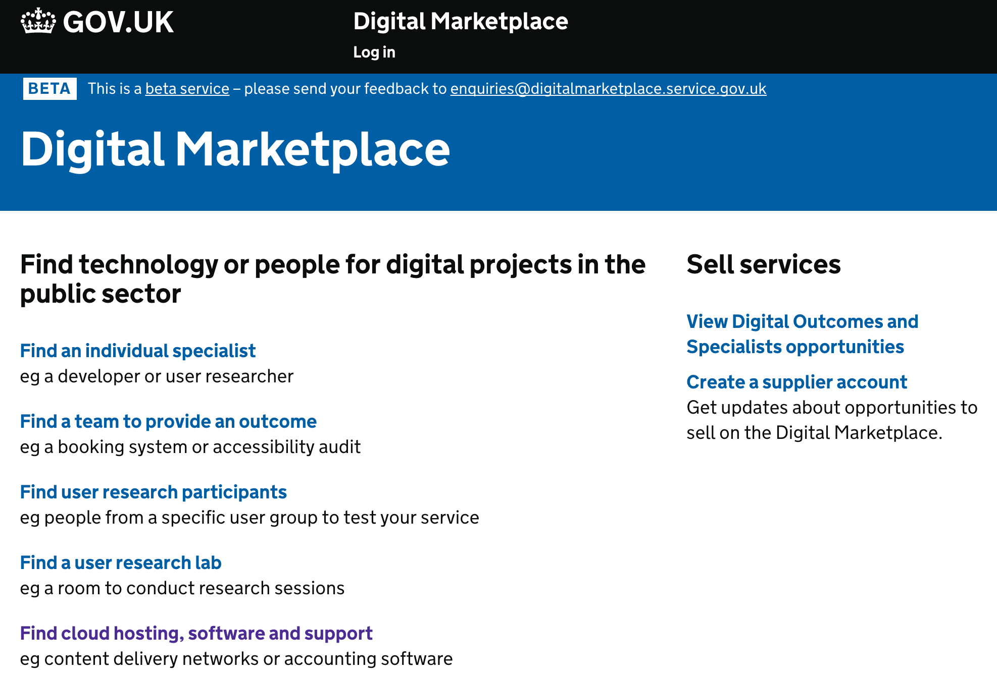 United Kingdom Digital Market Place