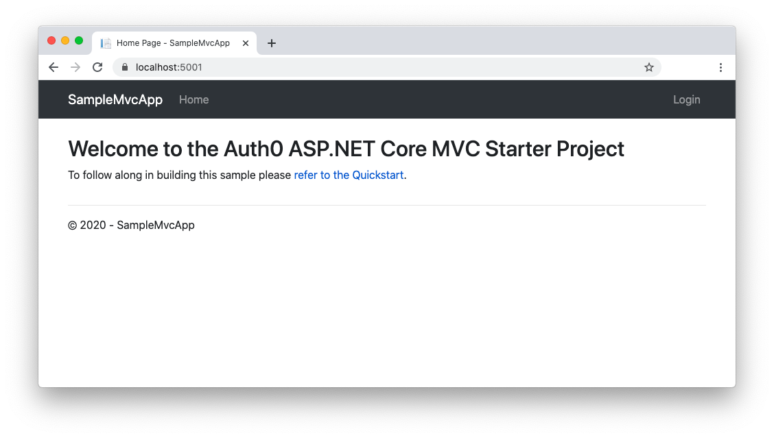 Running ASP.NET application