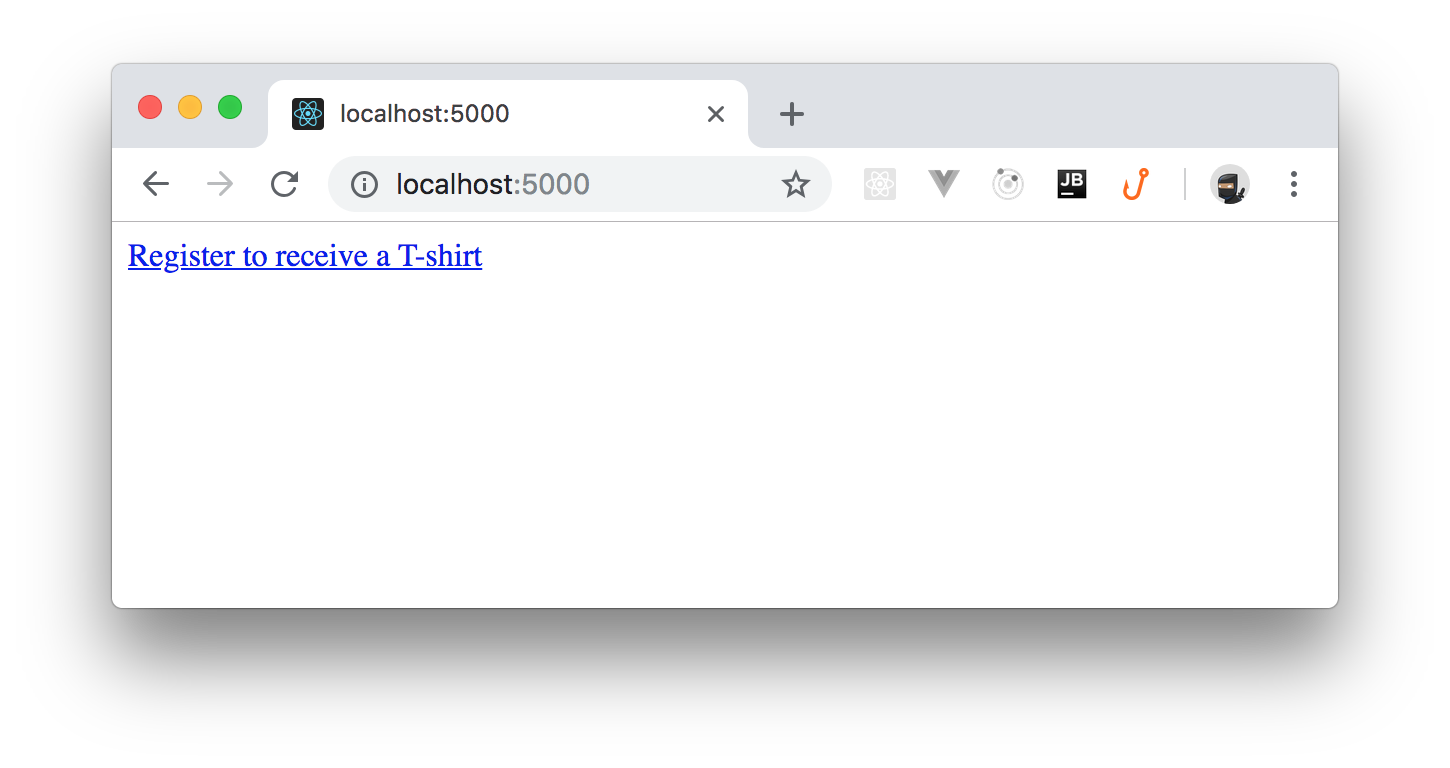 Running the .NET Core reverse proxy on localhost with link to Google Form