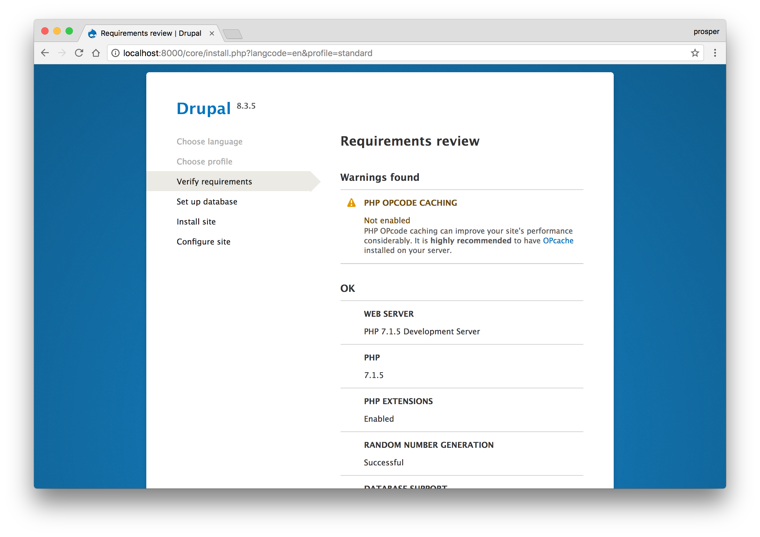 how to run a drupal site from localhost