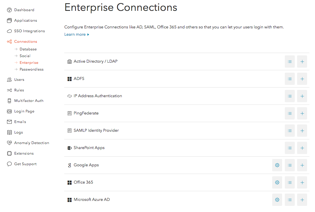 Enterprise Connections Dashboard