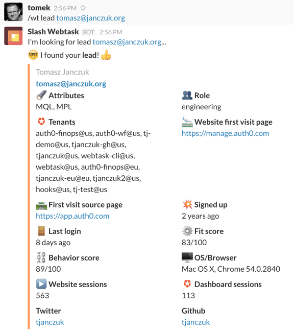 Extend Slack with Node js