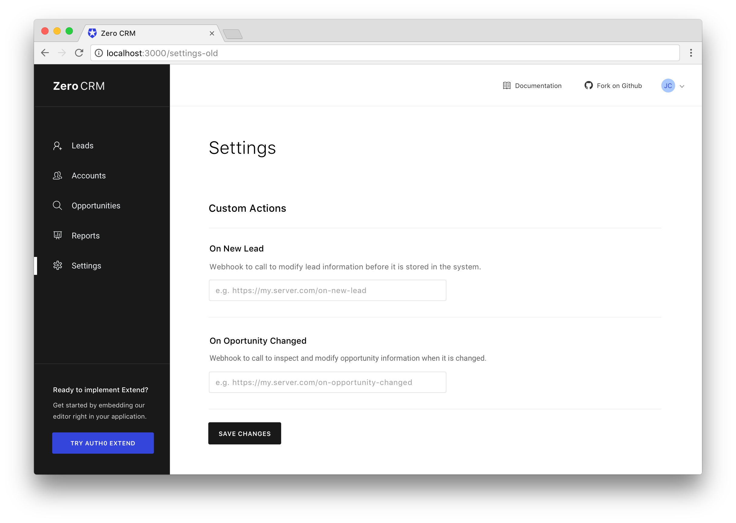 Serverless Webhooks with Extend