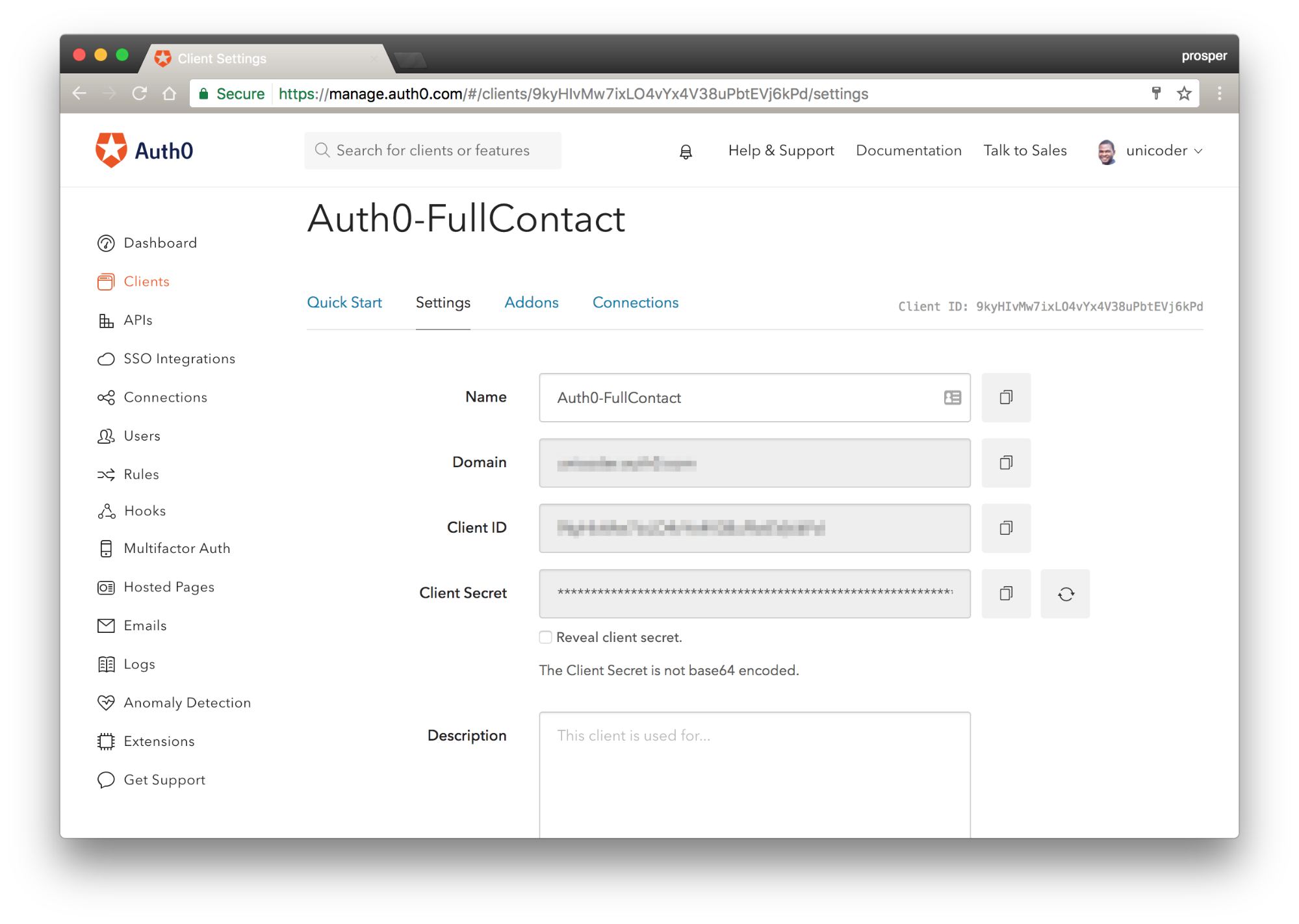 Auth0 Credentials