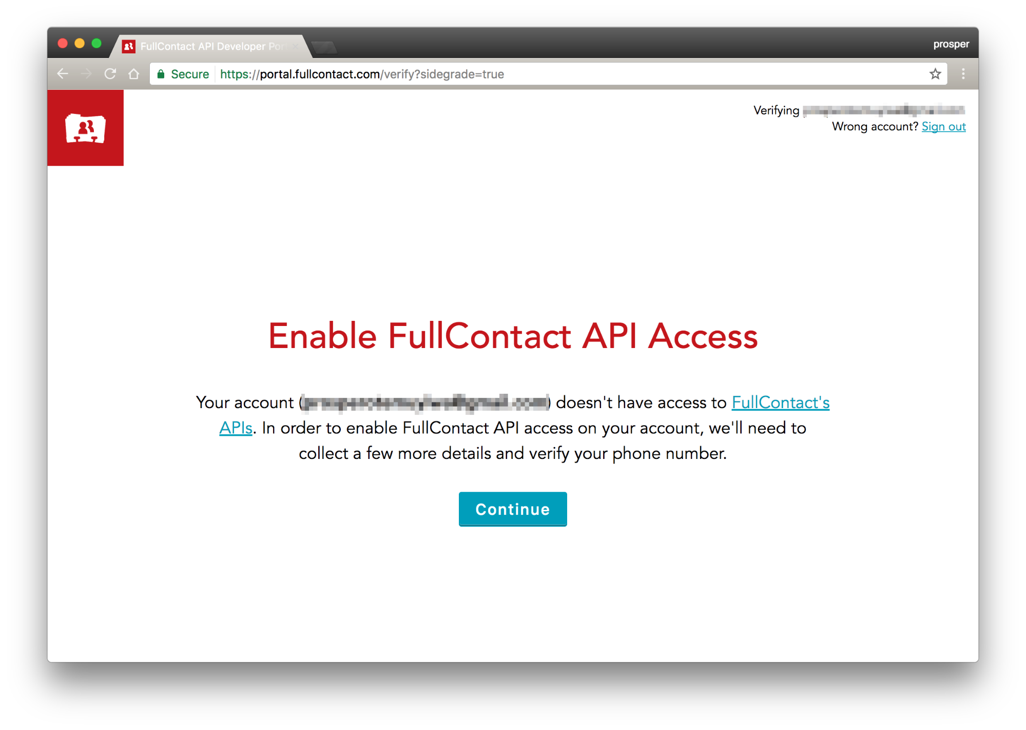Enable API access