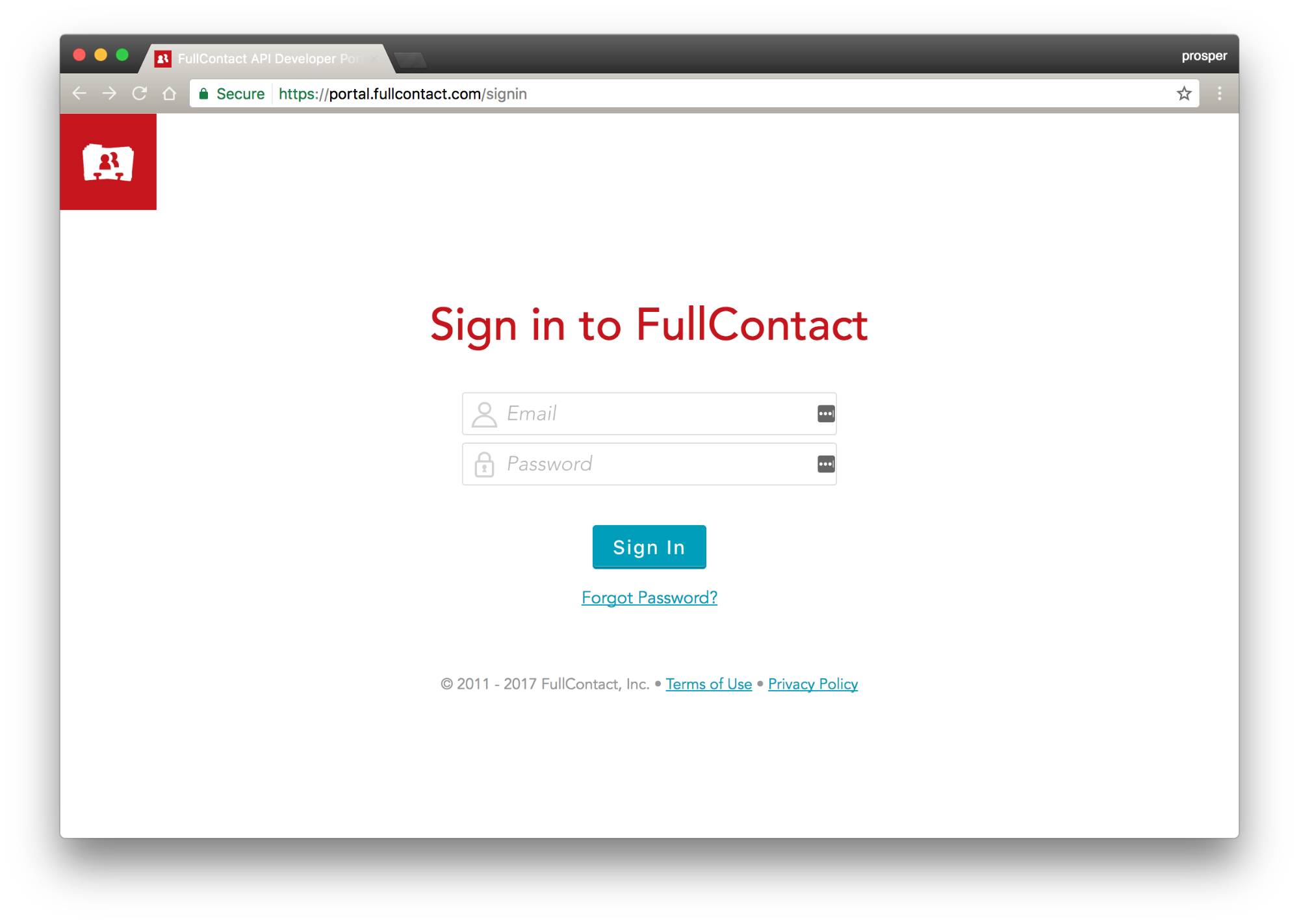 Sign in to FullContact