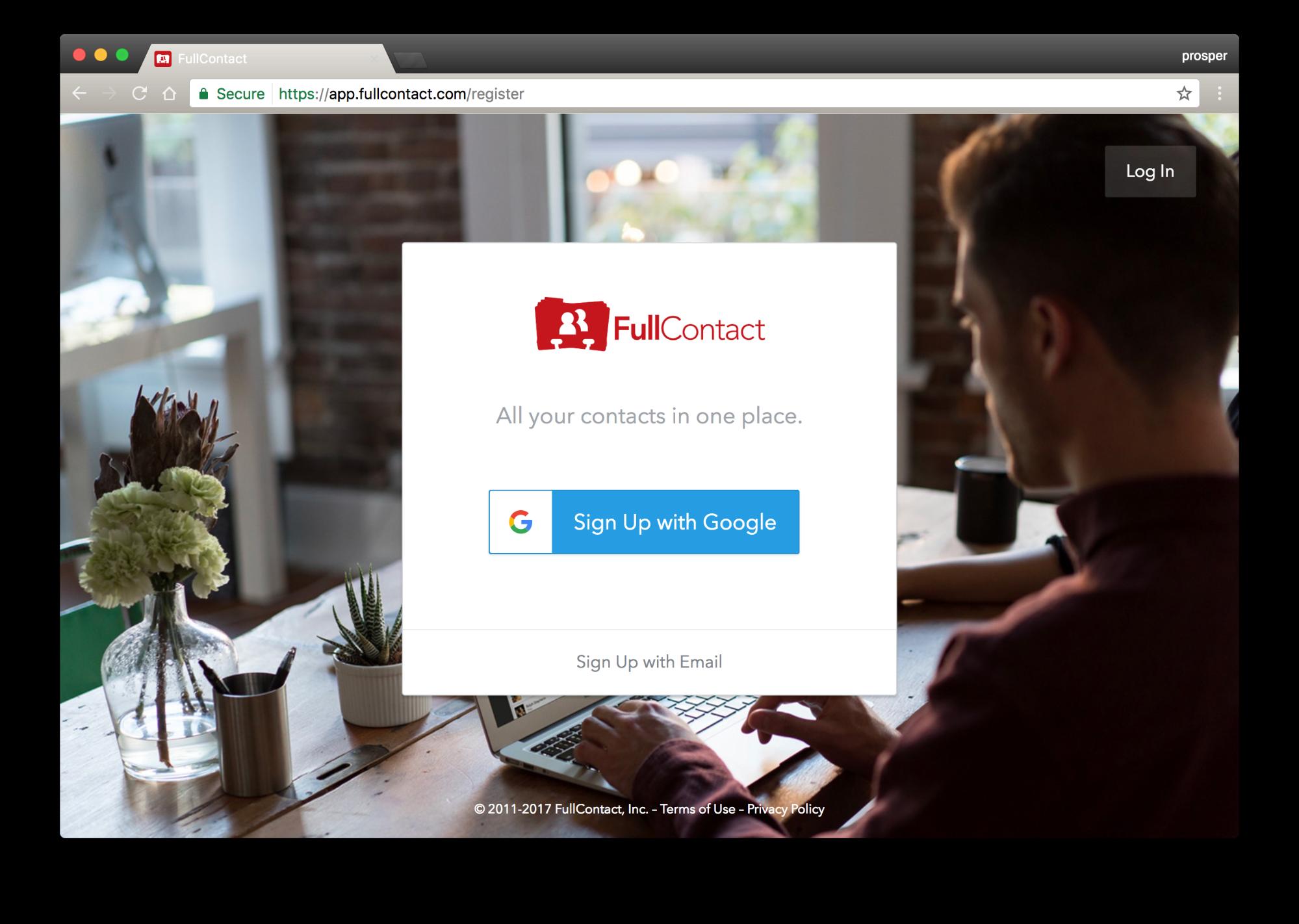 FullContact Signup
