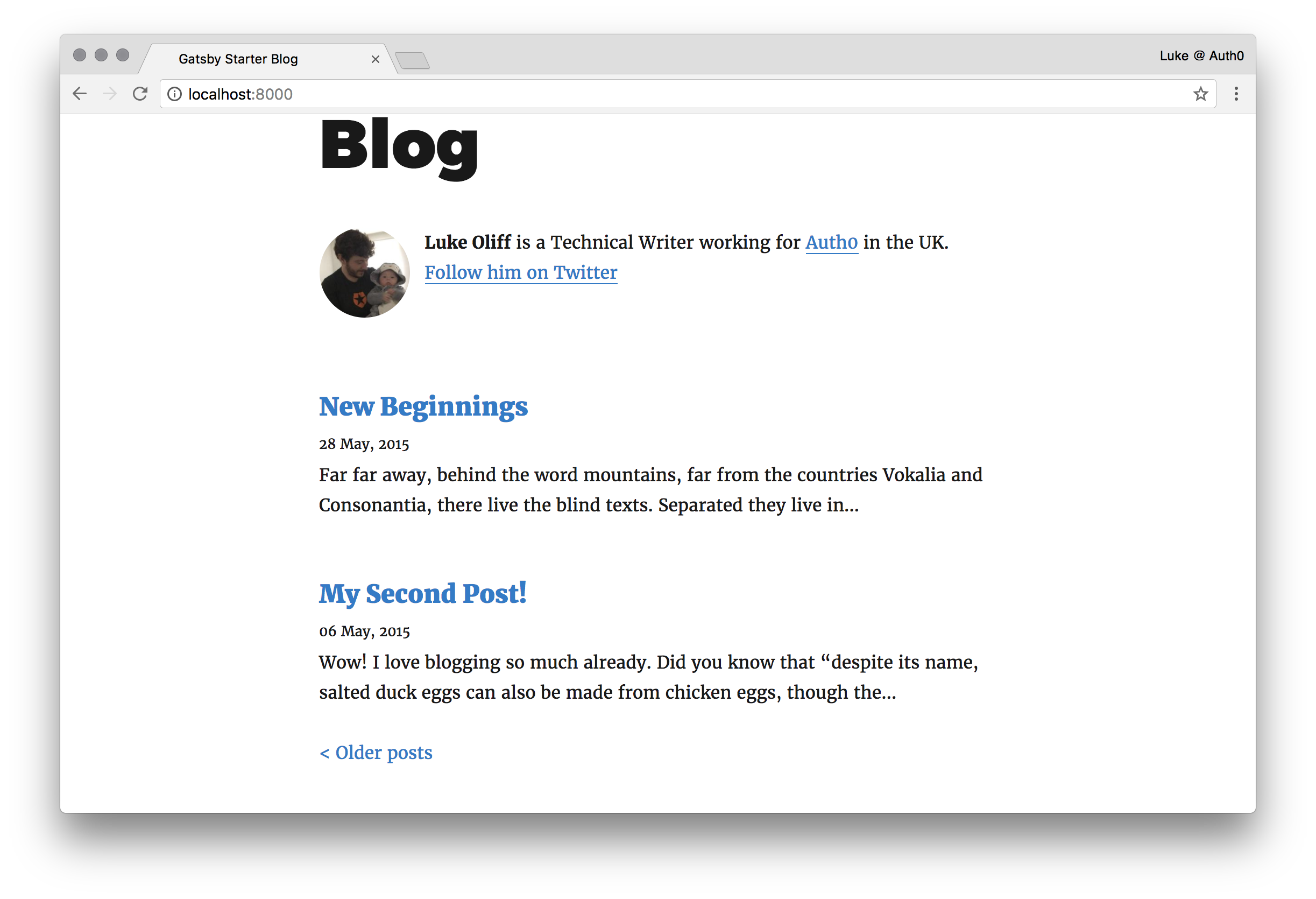 Building a blog with Gatsby, React and Webtask io!