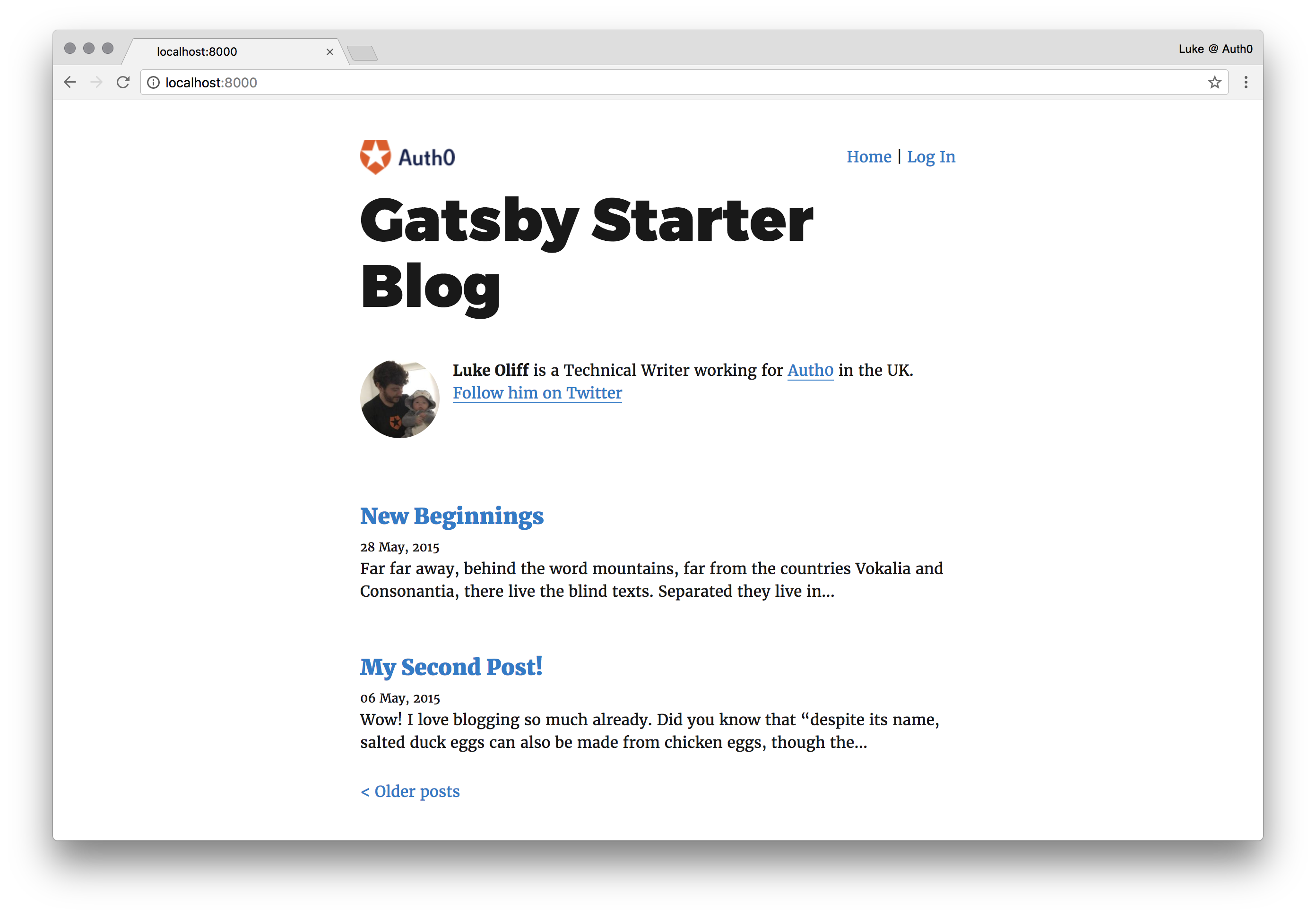 Nav added to Gatsby blog