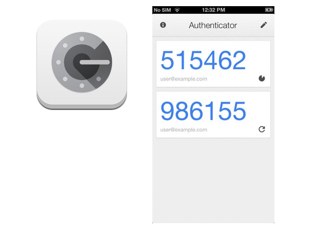 Google Authenticator balances clarity, capability, and design