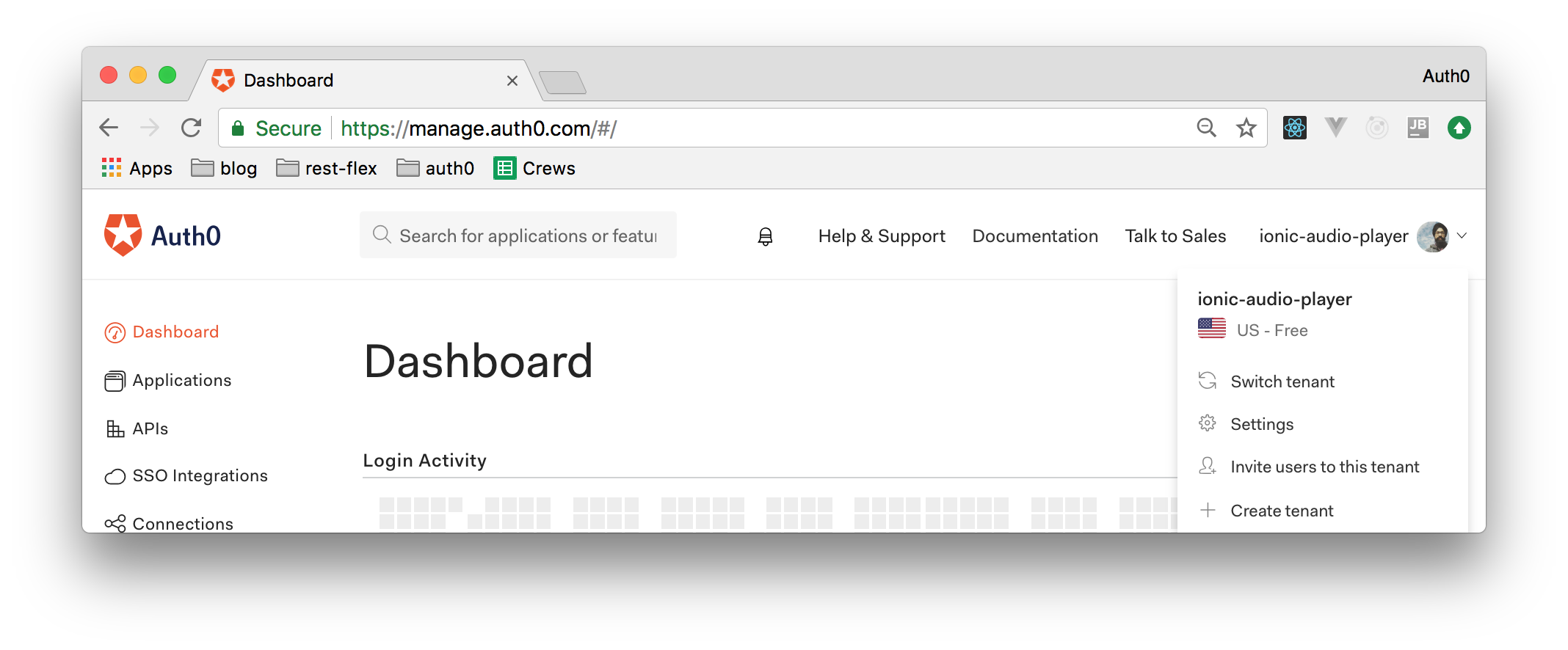 Find your Auth0 subdomain.