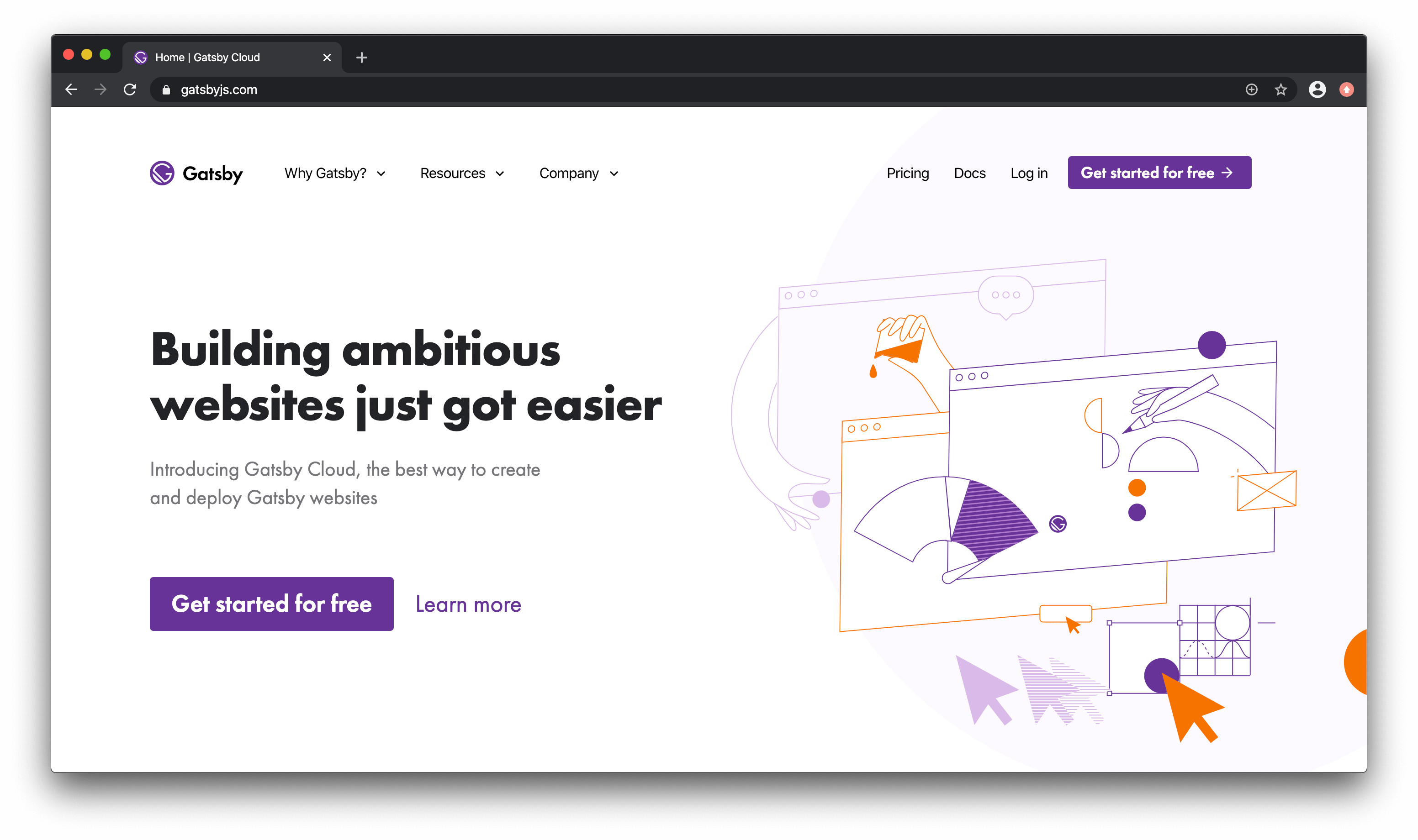 Gatsby Cloud homepage