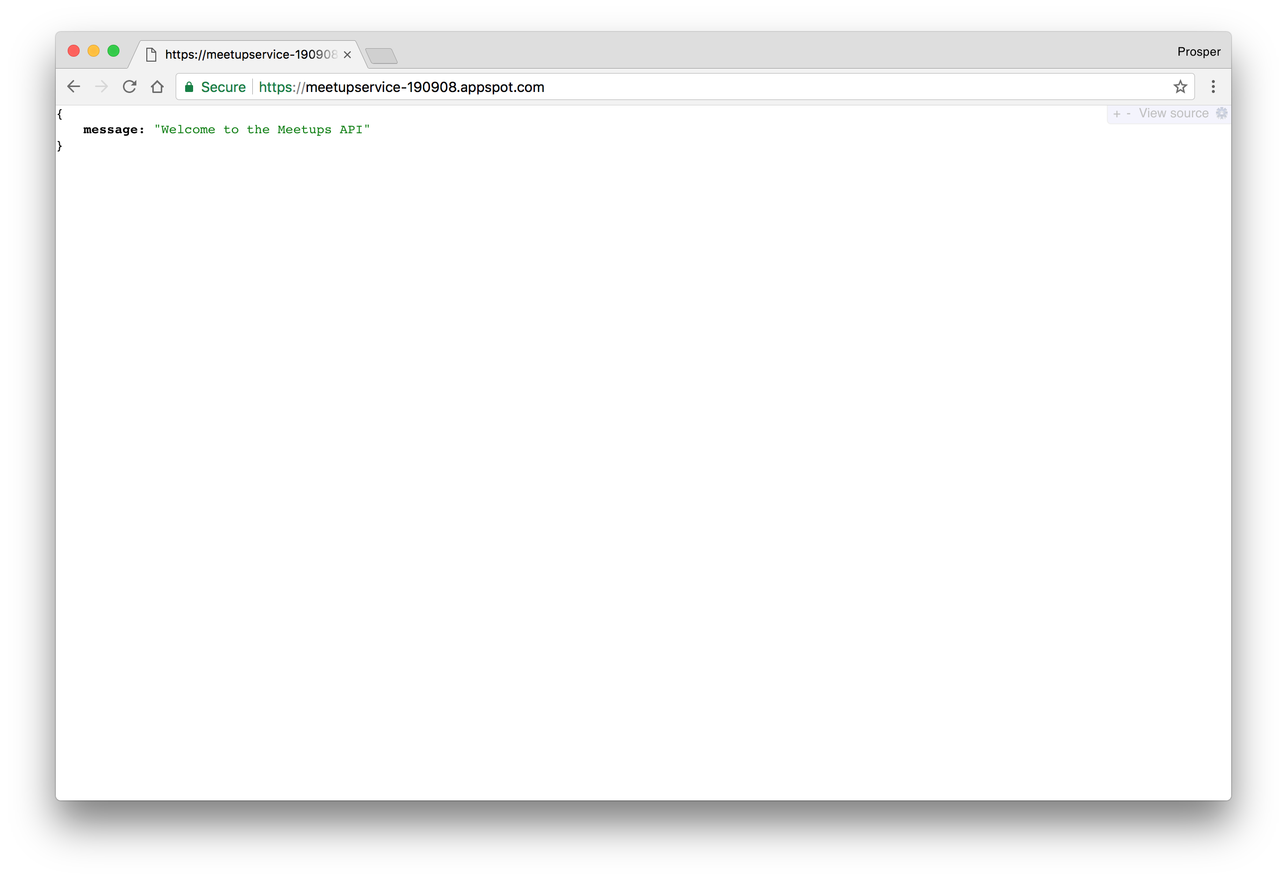 JavaScript Deploy - Live Backend Service