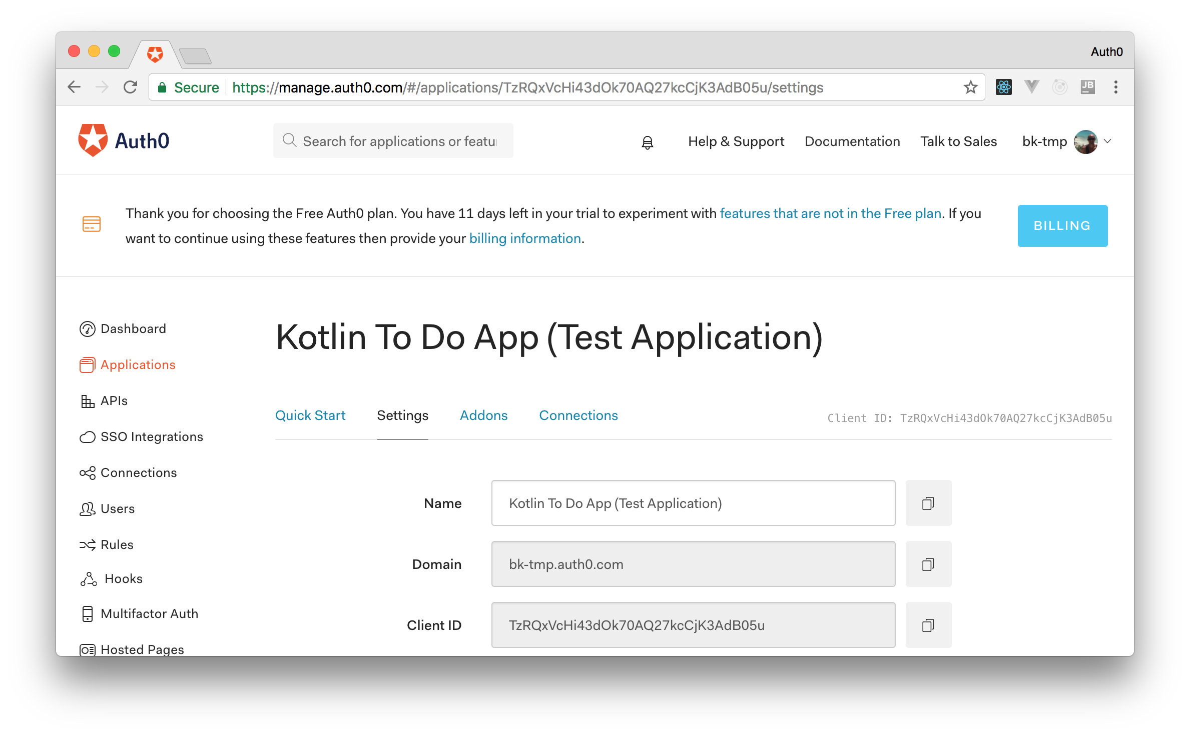 Authenticating Android Apps Developed in Kotlin