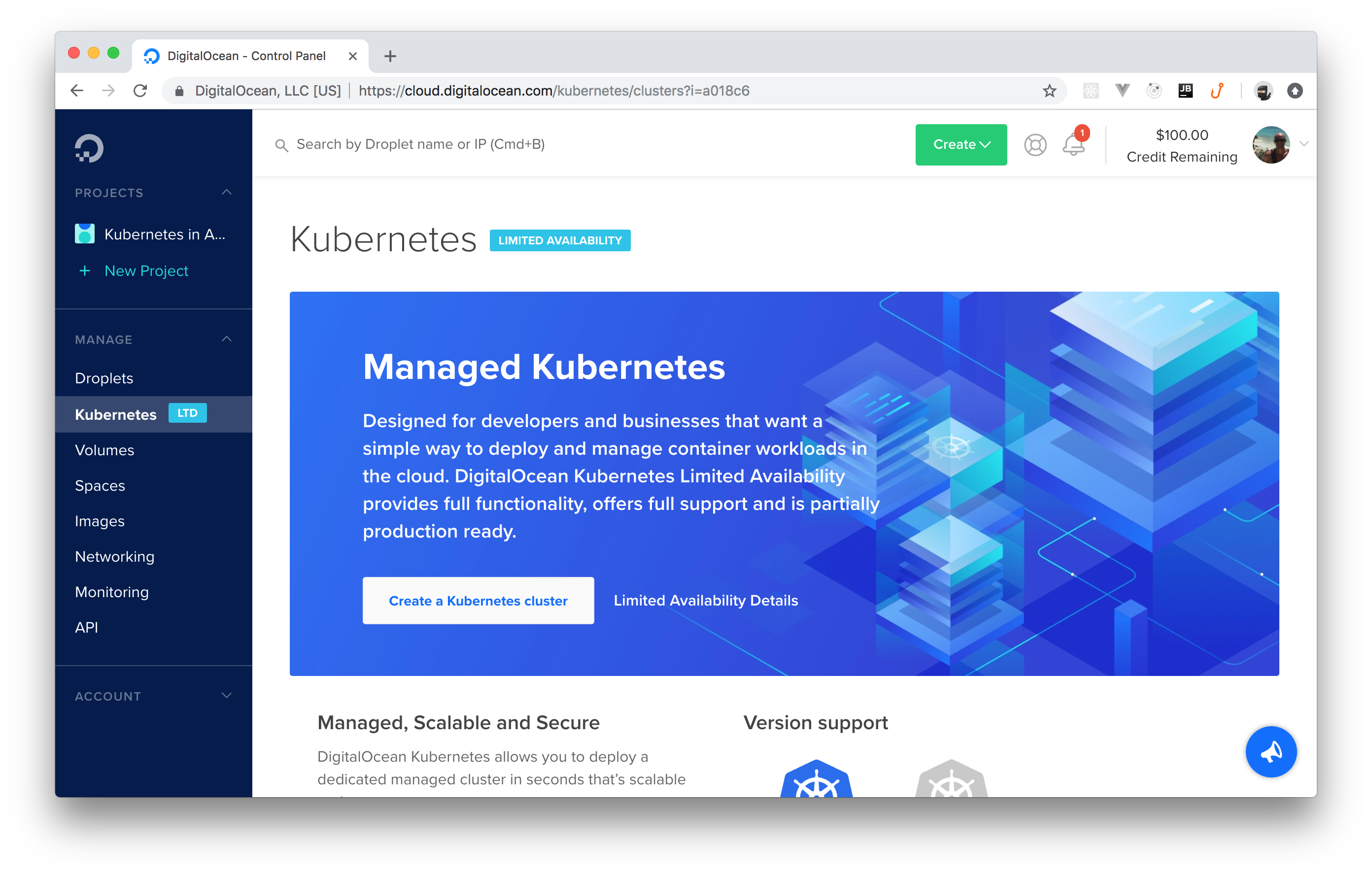 Kubernetes dashboard on DigitalOcean