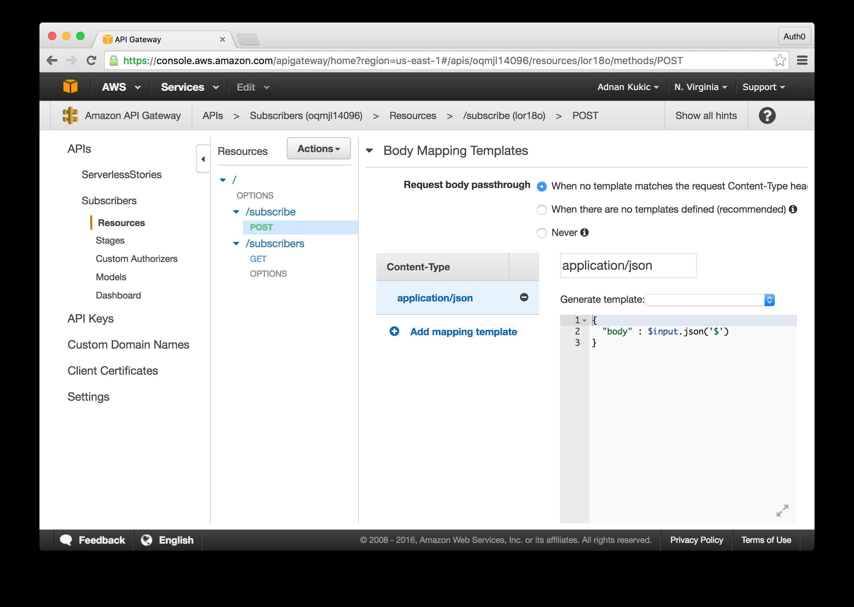 API Gateway Mapping