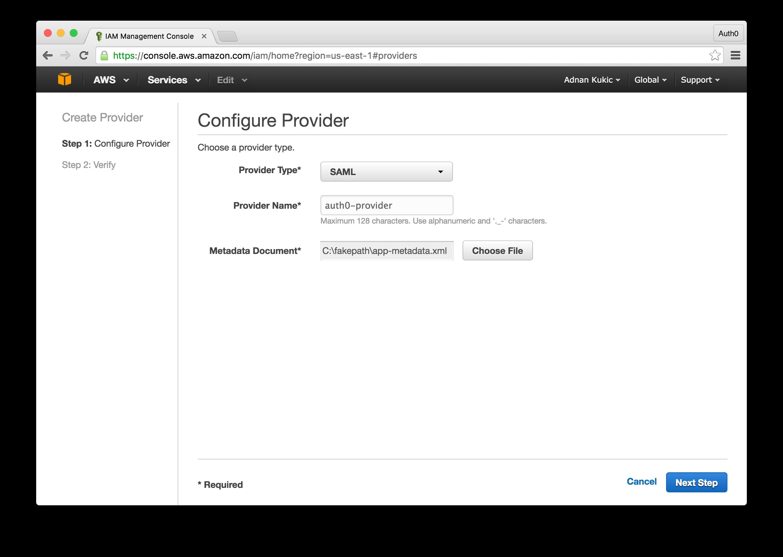 AWS Identity Provider Setup